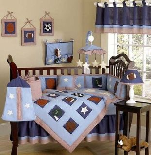 RED SPORTS THEMED 9pc BABY BOY CRIB BEDDING SET ROOM BY JOJO DESIGNS