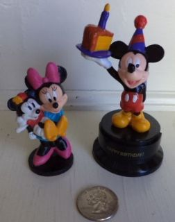 Disney Applause Mickey Mouse & Minnie Figures Plastic Cake Topper