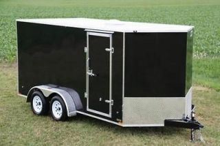 16 TANDEM AXLE CARGO TRAILER W/ RAMP DOOR AND WEDGE NOSE LED LIGHTS