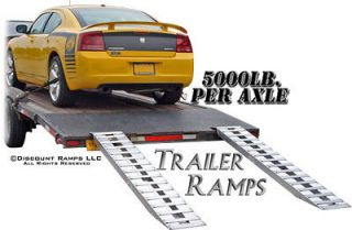 94 5000 lb ALUMINUM TRUCK CAR TRAILER RAMPS HOOK ENDS (05 15 094 04)