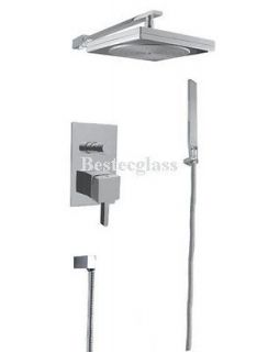 Square Rain Style Bath Wall Mounted Tub Shower Faucet