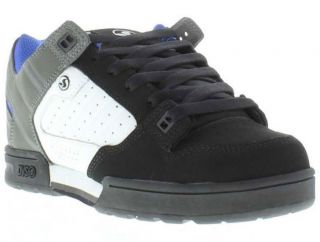 DVS Shoes Genuine Militia Mens Black White Grey Skate Shoes Sizes UK 7