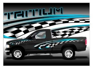 Tritium 3D motorcycle go kart race car trailer vinyl graphic decal set