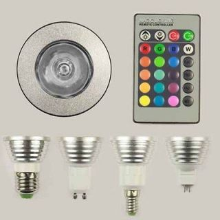 E27 GU10 E14 MR16 RGB LED Light Bulb + Remote Controller 16 Colors 5