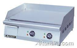AdCraft GRID 24 24 Countertop Electric Griddle   Flat Top Grill