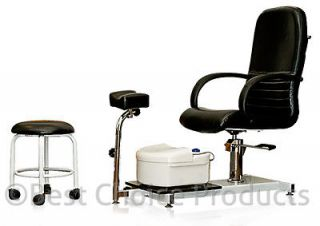 Station Chair Foot Spa Unit With Stool Beauty Salon Equipment New
