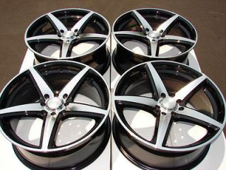 16 4x108 4x100 Black Wheels Ford Focus Miata Integra Cougar Mystique 4