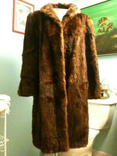 BEAUTIFUL REAL Fur Vintage Long Mink Coat In GREAT Condition