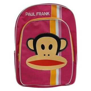 "NWT 16"" Pink PAUL FRANK Julius Monkey School BackPack BAG"