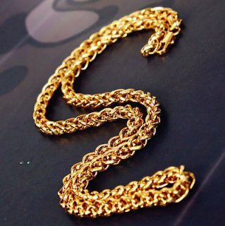 US. 18k yellow gold filled Mens jewelry necklace 19.7 Chain Cool