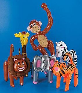 ZOO ANIMALS Safari Party Favor Decor Elephant Zebra Giraffe Monkey