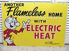 Vintage 60s 70s Reddy Kilowatt Electric Co Metal Sign Indiana Michigan