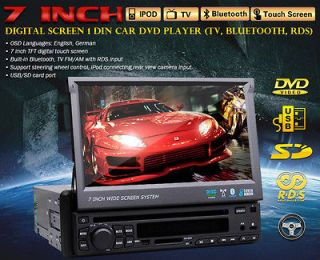 True HD DEF 7Single Din In Dash Touch Screen Car Stereo DVD Player