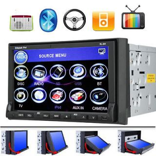 Touch Screen Double Din In dash Car Stereo DVD Player Radio Ipod TV BT