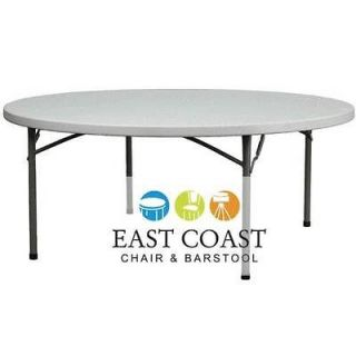 CLEARANCE New 72 Round Commercial Lightweight Plastic Folding Table