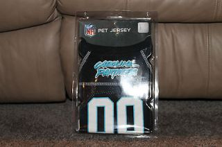 Panthers Pet Dog Black Jersey Shirt Size Large   NFL AUTHENTIC BRAND