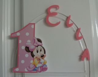 Baby Minnie Mouse 1st PERSONALIZED cake topper orANY character Cake