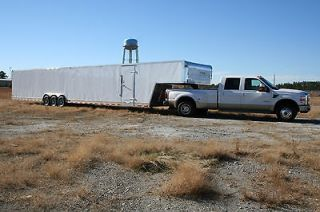 THREE AXLE 8.5x 52 52 ENCLOSED CAR AUTO HAULER GOOSENECK TRAILER 21K