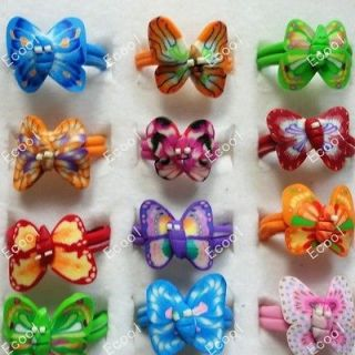 New wholesale jewelry mixed lots 25pcs children Polymer clay rings