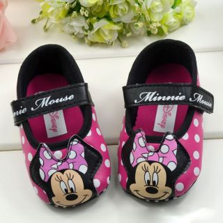 DISNEY BABY MINNIE MOUSE BABYS FIRST NON SLIP WALKERS,3 SIZES AVAIL