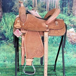 Hilason Western Barrel Racing Trail Pleasure Saddle 14 BH021