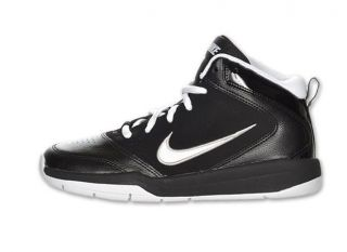 Nike Team Hustle D 5 Kids Basketball Shoes [GS] Black White 454461 001