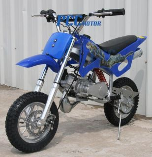BRAND NEW 49CC 50CC 2 STROKE GAS MOTOR MINI DIRT PIT BIKE BLUE DB49A