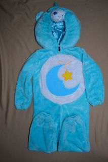 CARE BEARS COSTUME Bedtime Bear Turquoise Size 3T 4T Halloween