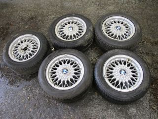 Set Of 5 Genuine BMW E30 15 BBS Alloys Wheels Et24 4x100 With 205/55