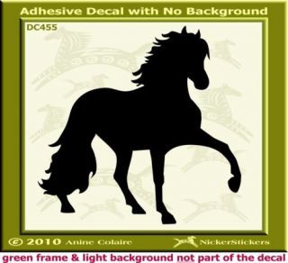 Peruvian Paso Horse Trailer Window Decal Sticker 445