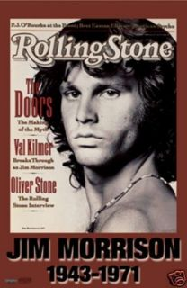 THE DOORS JIM MORRISON ROLLING STONE COVER POSTER 22x34 NEW FREE SHIP