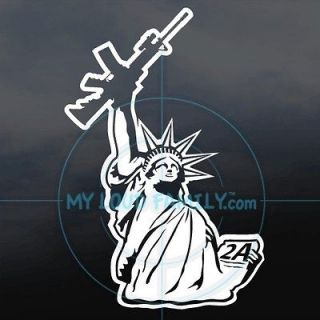 Statue of Liberty gun family decals stickers VINYL CAR TRUCK SUV