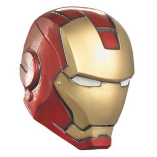 IRON MAN The Avengers Adult Helmet Covers Full Head Marvel Comics