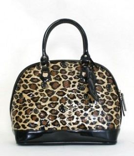 Loungefly Hello Kitty Handbag Brown Leopard Print Luggage Tote Bag