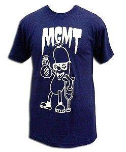 MGMT hot dog Navy Blue Soft Fit T SHIRT NEW S M L XL authentic