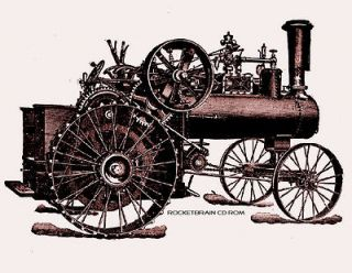 Antique Steam Engine FARM TRACTORS equipment implements