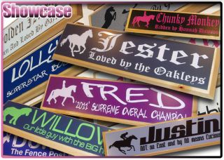 horse stall name plates in Other