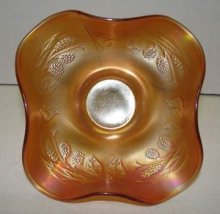 Antique Fenton Marigold Carnival Glass Bowl Dish Hat BlackBerry Spray