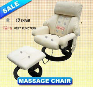 Luxury TV Massage Chair Recliner With Ottoman Remote Heat Therapy