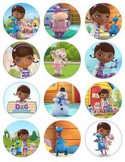 DOC MCSTUFFINS Printable Birthday Party Cupcake Toppers Favor Tags