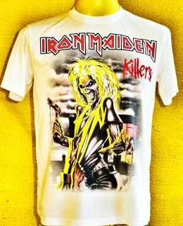 IRON MAIDEN KILLERS Retro Look T Shirt NEW. RRP 19.99