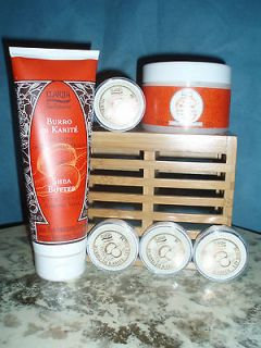 Perlier Shea Butter 6pc Set   incl RARE lip balm   NEW