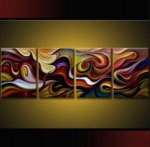 pieces Large Modern Abstract Art Oil Painting Wall Deco canvas