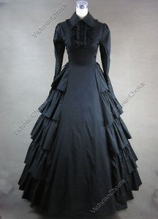 Victorian Gothic Lolita Brocade Dress Ball Gown Reenactment 156 XL