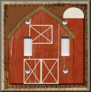 Light Switch Plate Cover   Primitive Decor   Big Red Country Barn