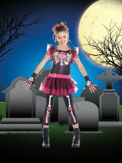 Skeleton Girl Halloween Party Light Up Costume Stunning Tutu Skirt