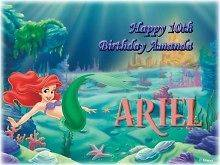 Little Mermaid #4 Edible CAKE Icing Image topper frosting birthday