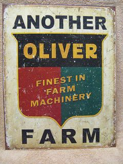 Another Oliver Farm Tin Metal Sign Decor Machinery Equipment Barn FARM