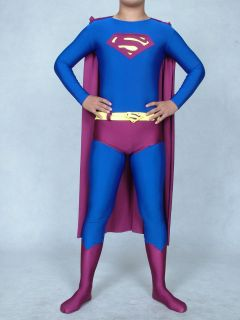 lycra zentai superhero Halloween costumes superman return size S XXL