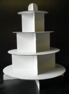 TIER CUP CAKE DISPOSABLE CARD WEDDING BIRTHDAY STAND